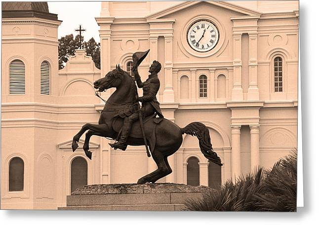 New Orleans Louisiana Framed Prints Greeting Cards - New Orleans - Jackson Square 5 Greeting Card by Frank Romeo