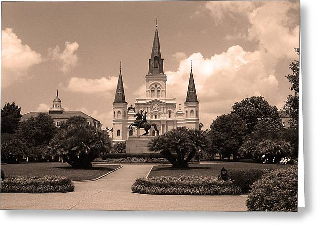 New Orleans Louisiana Framed Prints Greeting Cards - New Orleans - Jackson Square 6 Greeting Card by Frank Romeo