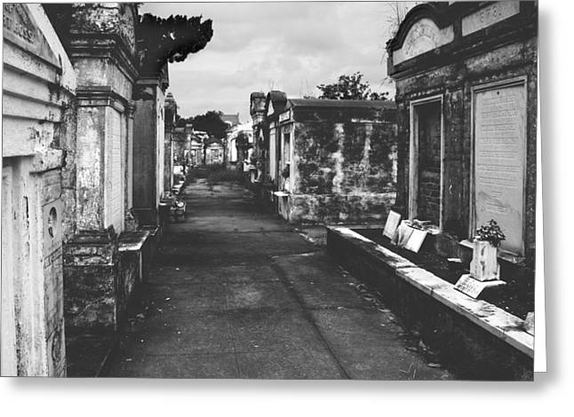 Headstones Greeting Cards - New Orleans Lafayette cemetery Greeting Card by Christine Till