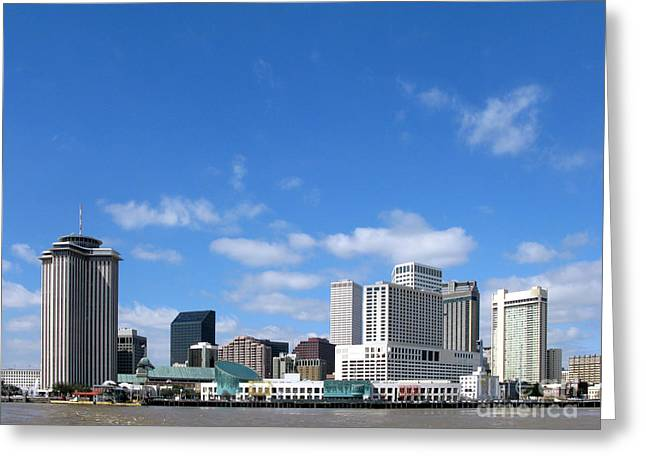 New Orleans Louisiana Greeting Card by Olivier Le Queinec