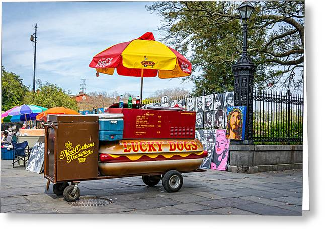 Lucky Dogs Photographs Greeting Cards - New Orleans - Lucky Dogs  Greeting Card by Steve Harrington