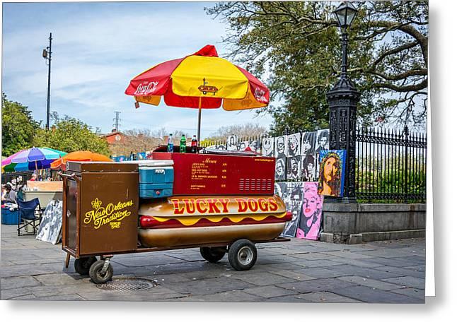 New Orleans - Lucky Dogs  Greeting Card by Steve Harrington