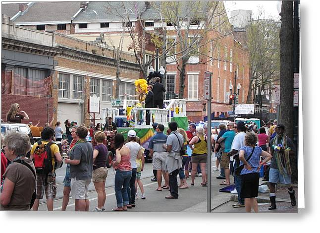 New Greeting Cards - New Orleans - Mardi Gras Parades - 1212119 Greeting Card by DC Photographer