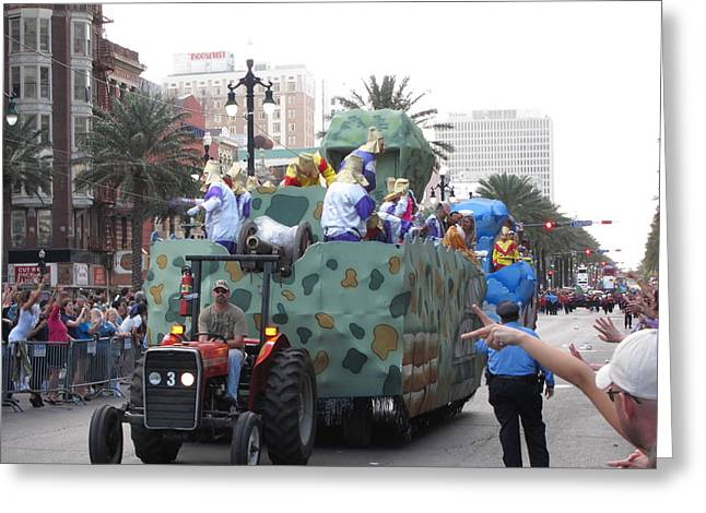 La Greeting Cards - New Orleans - Mardi Gras Parades - 121214 Greeting Card by DC Photographer