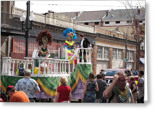 La Greeting Cards - New Orleans - Mardi Gras Parades - 1212143 Greeting Card by DC Photographer