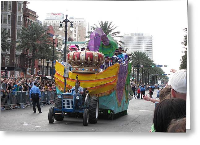 Gras Greeting Cards - New Orleans - Mardi Gras Parades - 12122 Greeting Card by DC Photographer