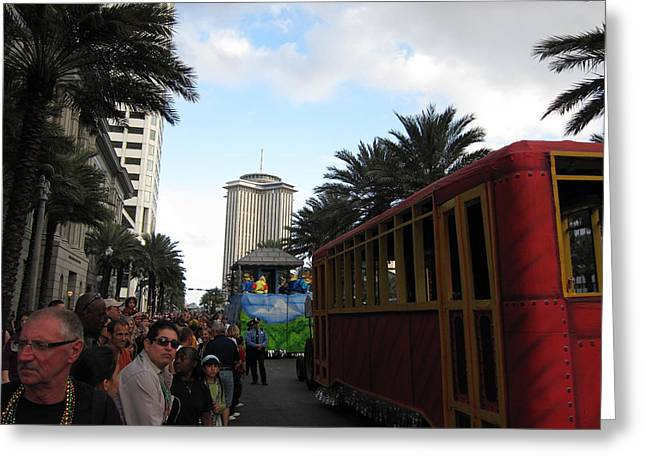 Parades Greeting Cards - New Orleans - Mardi Gras Parades - 121239 Greeting Card by DC Photographer