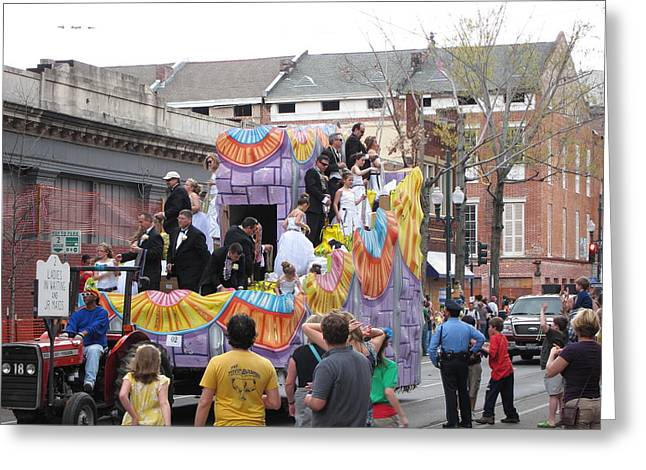 Parade Greeting Cards - New Orleans - Mardi Gras Parades - 121265 Greeting Card by DC Photographer