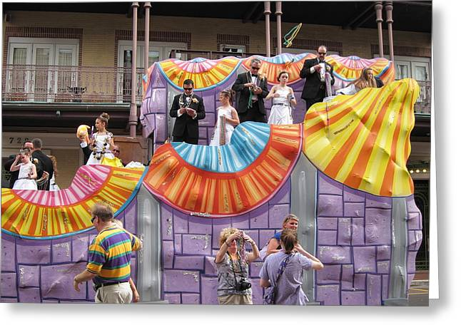 Parades Greeting Cards - New Orleans - Mardi Gras Parades - 121268 Greeting Card by DC Photographer
