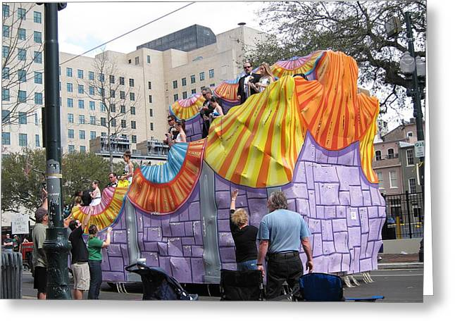 La Greeting Cards - New Orleans - Mardi Gras Parades - 121269 Greeting Card by DC Photographer