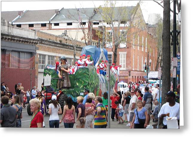 Parade Greeting Cards - New Orleans - Mardi Gras Parades - 121291 Greeting Card by DC Photographer