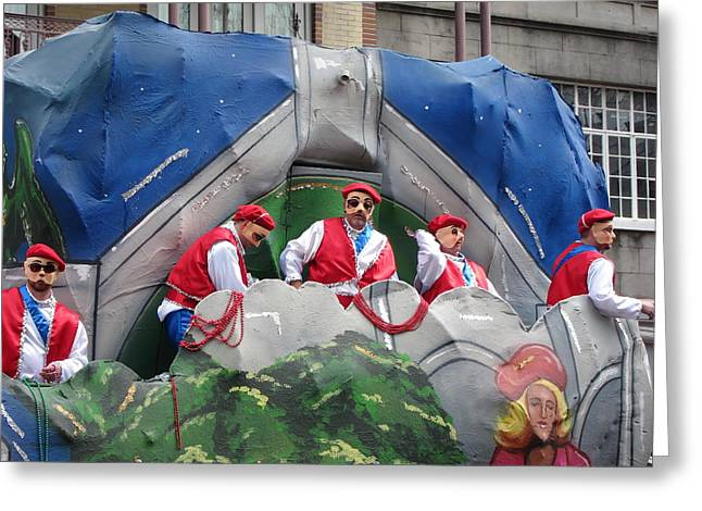 New Orleans - Mardi Gras Parades - 121294 Greeting Card by DC Photographer