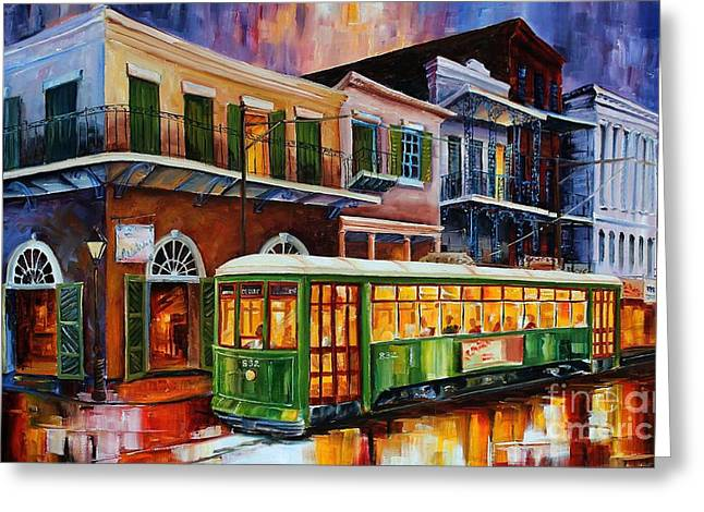 Recently Sold -  - Old Street Greeting Cards - New Orleans Old Desire Streetcar Greeting Card by Diane Millsap