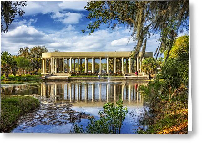 Metairie Greeting Cards - New Orleans Peristyle 2 Greeting Card by Steve Harrington