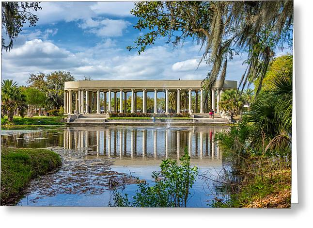 Metairie Greeting Cards - New Orleans Peristyle  Greeting Card by Steve Harrington