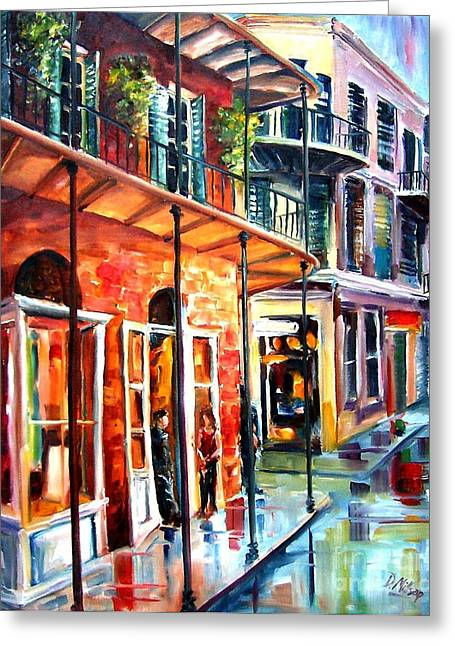 New Orleans Rainy Day Greeting Card by Diane Millsap