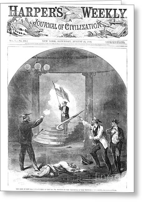 Constitutional Convention Greeting Cards - New Orleans: Riot, 1866 Greeting Card by Granger