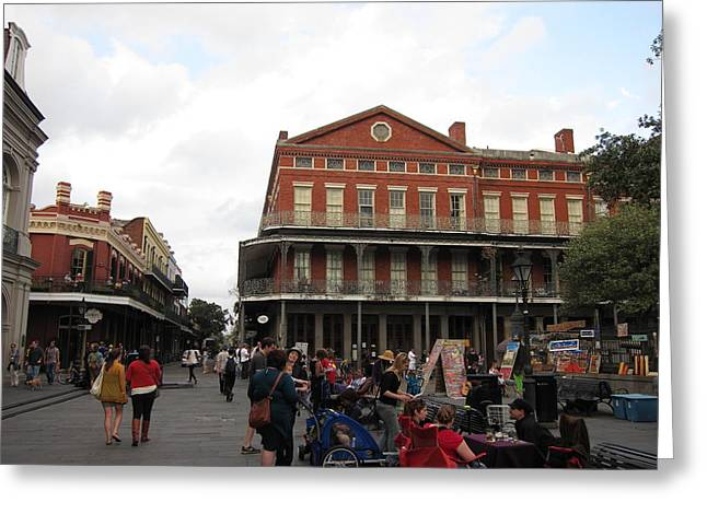 Streets Greeting Cards - New Orleans - Seen On The Streets - 121248 Greeting Card by DC Photographer