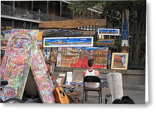 New Orleans - Seen On The Streets - 121249 Greeting Card by DC Photographer