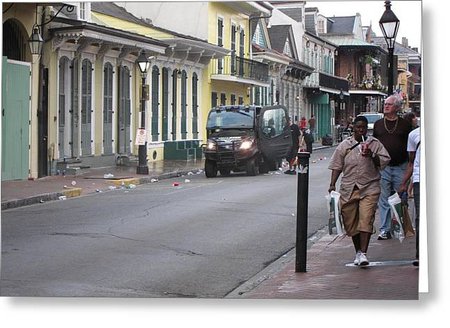 Streets Greeting Cards - New Orleans - Seen On The Streets - 121252 Greeting Card by DC Photographer