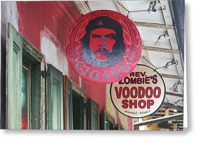 Voodoo Shop Greeting Cards - New Orleans Shops Greeting Card by Frank Romeo