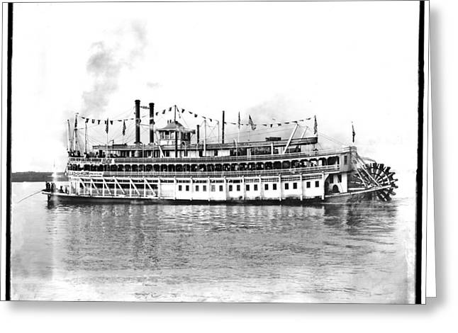 Steam Ship Greeting Cards - New Orleans  Steamship 1910 Greeting Card by Bill Cannon