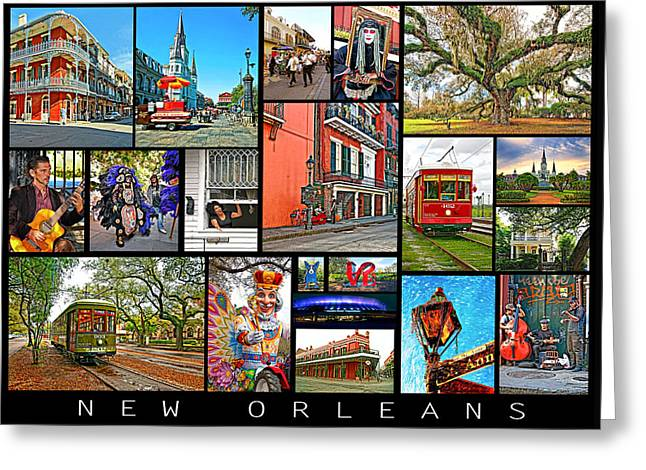 New Orleans Greeting Card by Steve Harrington