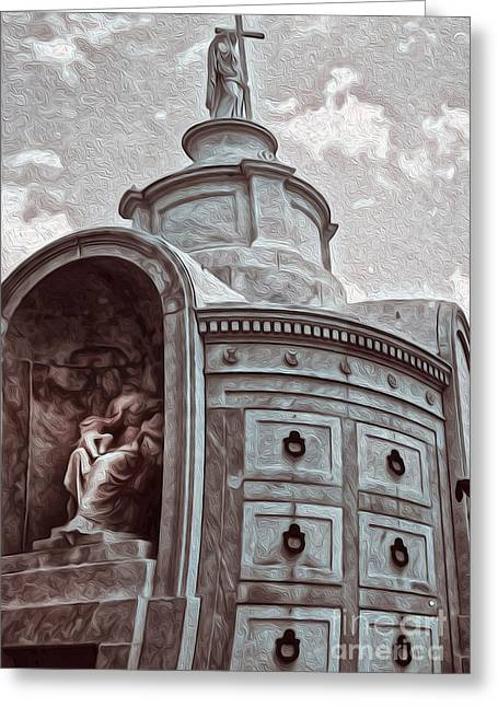New Orleans - St.louis Cemetery Greeting Card by Gregory Dyer