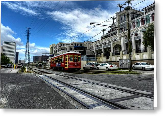 Jax Greeting Cards - New Orleans Street Car 001 Greeting Card by Lance Vaughn