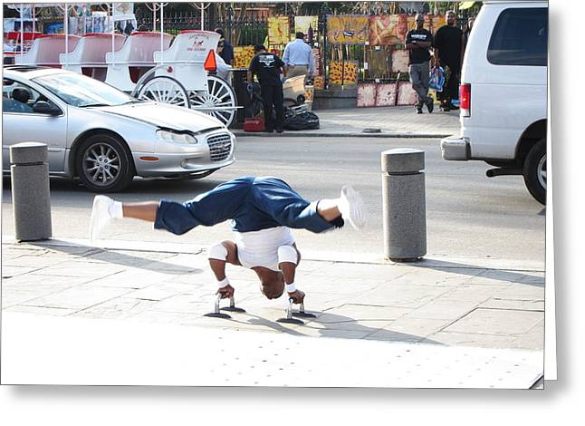 New Orleans - Street Performers - 121212 Greeting Card by DC Photographer