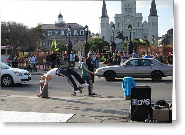 ist Photographs Greeting Cards - New Orleans - Street Performers - 121215 Greeting Card by DC Photographer
