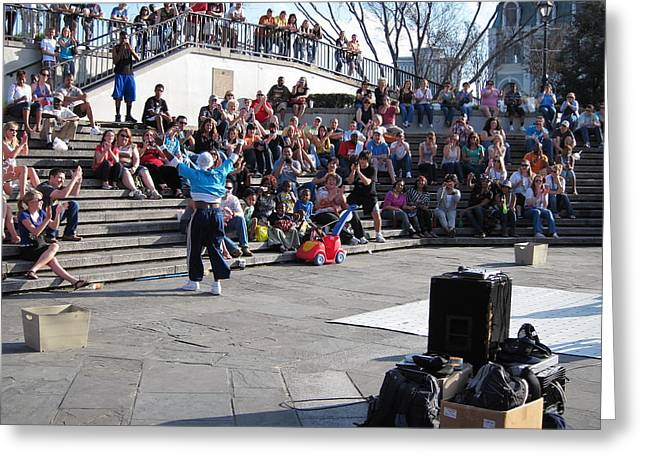 Performance Greeting Cards - New Orleans - Street Performers - 12123 Greeting Card by DC Photographer