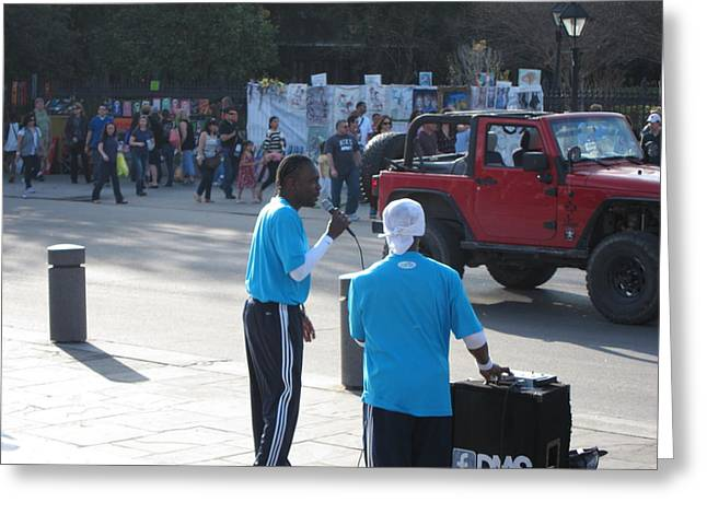 Performance Greeting Cards - New Orleans - Street Performers - 12125 Greeting Card by DC Photographer