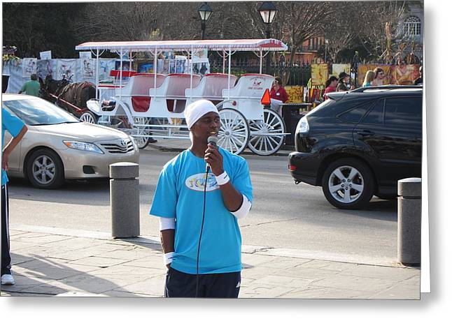 New Orleans - Street Performers - 12128 Greeting Card by DC Photographer