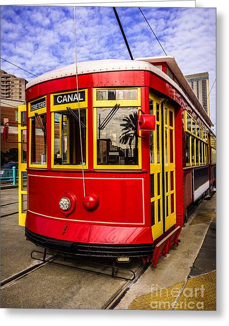 French Quarter Photographs Greeting Cards - New Orleans Streetcar  Greeting Card by Paul Velgos