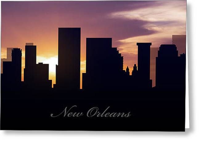 Metropolitan Greeting Cards - New Orleans Sunset Greeting Card by Aged Pixel