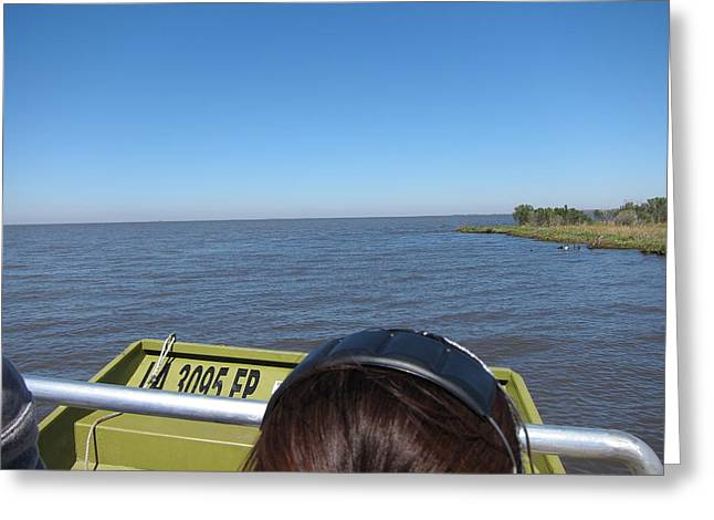 Swamp Greeting Cards - New Orleans - Swamp Boat Ride - 1212162 Greeting Card by DC Photographer