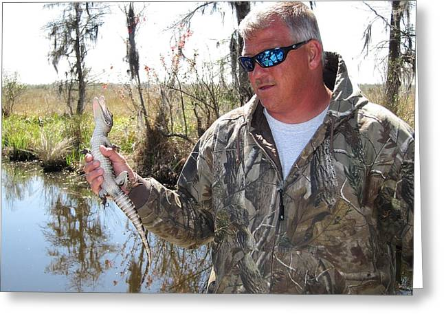 New Greeting Cards - New Orleans - Swamp Boat Ride - 121299 Greeting Card by DC Photographer