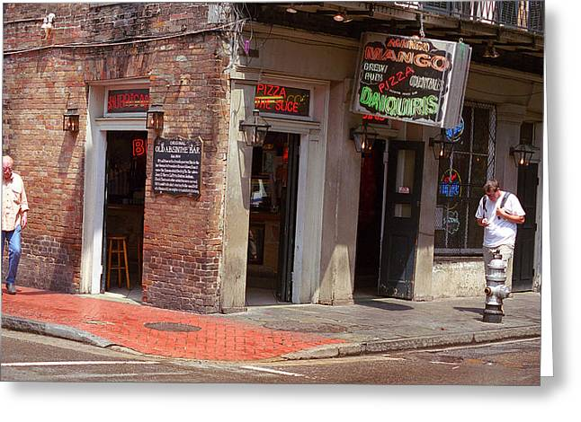 Neon Bar Stool Signs Greeting Cards - New Orleans Tavern Greeting Card by Frank Romeo