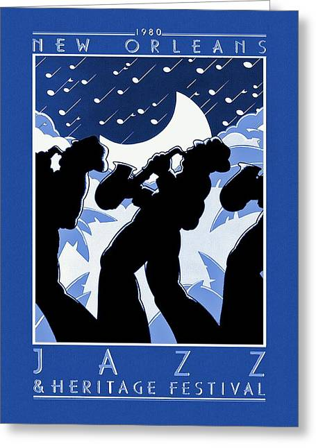 Movie Poster Prints Greeting Cards - New Orleans Vintage Jazz and Heritage Festival 1980 Greeting Card by Movie Poster Prints