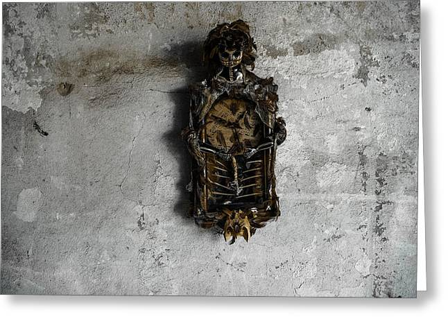 Outsider Photographs Greeting Cards - New Orleans Voodoo Bone Clock Greeting Card by Louis Maistros