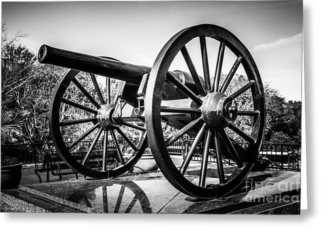New Orleans Washington Artillery Park Cannon Greeting Card by Paul Velgos