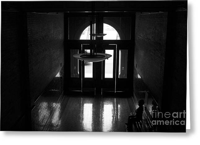 New Photographic Art Print For Sale Bradbury Building 12 Downtown La Greeting Card by Toula Mavridou-Messer