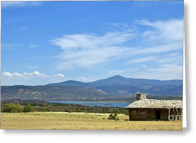 New Photographic Art Print For Sale Cabin At The Ghost Ranch New Mexico Greeting Card by Toula Mavridou-Messer