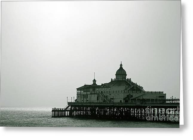 Ocean Art Photography Greeting Cards - NEW Photographic Art Print For Sale Eastbournes Victorian Pier Greeting Card by Toula Mavridou-Messer