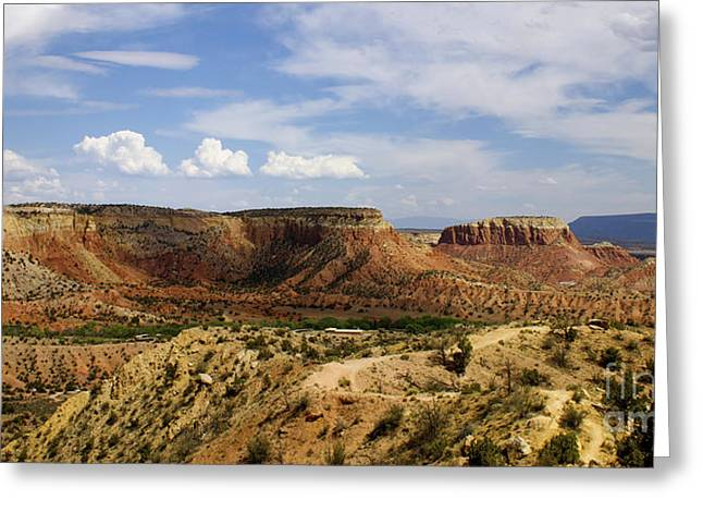 Ghost Ranch Landscape New Mexico 12 Greeting Card by Toula Mavridou-Messer