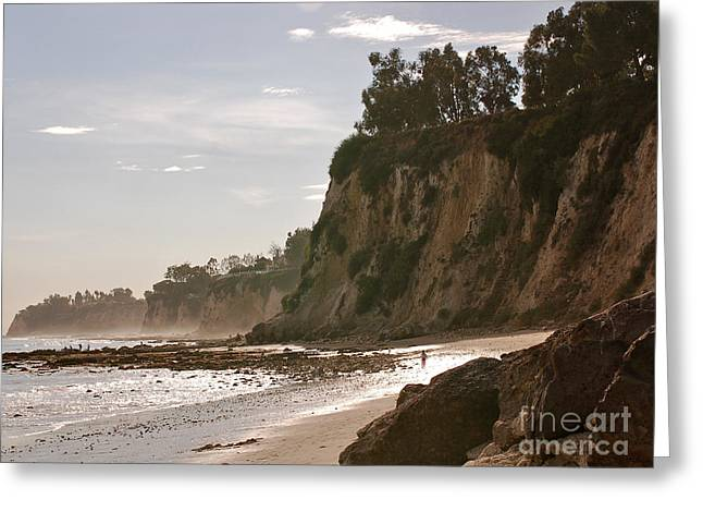 California Beach Art Greeting Cards - NEW Photographic Art Print For Sale Paradise Cove Greeting Card by Toula Mavridou-Messer