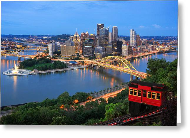 Monongahela River Greeting Cards - New Pittsburgh  Greeting Card by Emmanuel Panagiotakis