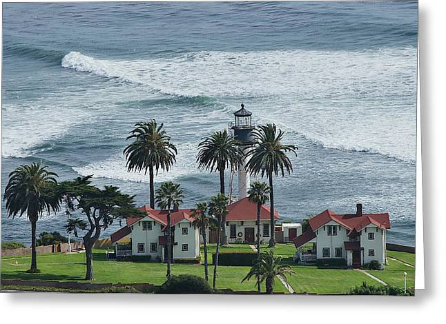 Carter House Greeting Cards - New Point Loma Lighthouse Greeting Card by See My  Photos