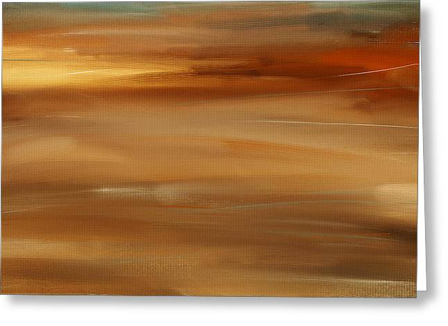 Abstract Seascape Art Greeting Cards - New Radiance Greeting Card by Lourry Legarde